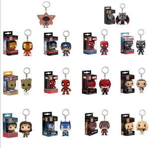 FUNKO POP keychain Stranger Things Spider-Man Captain America SAILOR MOON Game of Thrones with box