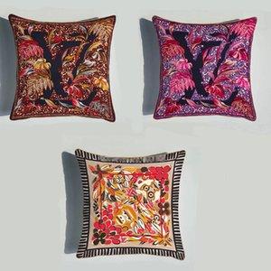 Casos suaves almofadas de veludo fronha de almofada decorativa geométrica dos desenhos animados Projeto da tampa do descanso de cabeceira quarto Decor Lance