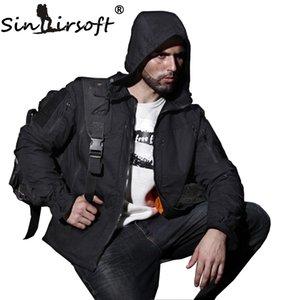 Sinairsoft Açık Av Sporları Askeri Taktik Ceket Erkekler su geçirmez Windproof Yürüyüş Ceket Kamuflaj Giyim Multicam