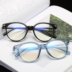 Blue Light Blocco monocolo di occhiali rotondi occhiali del calcolatore delle donne Anti-UV Blue Rays Plain Specchio