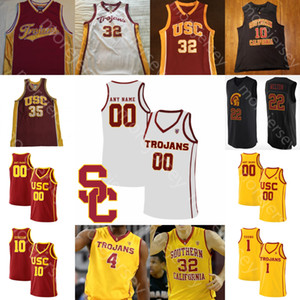 Personalizado USC Trojans Basketball Jersey NCAA Onyeka Okongwu Isaías Mobley Mathews Weaver Nick Rakocevic Adlesh Vučević O.J. Mayo Jovem