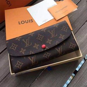 concepteur original Portefeuille long Zipper Wallet Womens carte design Zipper en cuir véritable Pouch ronde Porte-monnaie emballage d'origine avec la boîte 06