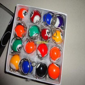 free shipping 1440pcs Pool Billiard snooker table ball keychain keyring