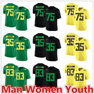 customize NCAA Oregon Ducks Fußball Jerseys Jake Fisher 75 Joe Walker 35 Johnny Mundt 83 Trikot jeder beliebige Name Anzahl Größe S-5XL
