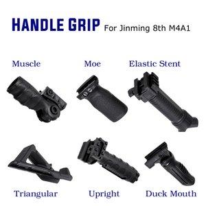 De alta qualidade ABS aperto Tático de punho Foregrip para JinMing 8th Folding Bipod Gele Ball jogo Água Para Brinquedos de armas acessórios