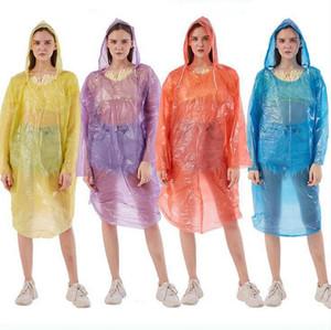 Monouso Impermeabili PE Viaggi cappotto di pioggia Poncho indumenti impermeabili portatile impermeabile di usura OOA7876 all'aperto One Time pioggia