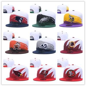 Toptan Ucuz yeni stil Erkekler Beyzbol şapkası Tüm Futbol Takımı Snapback Açık Spor kemik Beyzbol Şapka Mix Sipariş