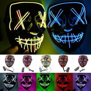 Masken-Halloween-LED leuchten Partei-Schablonen Die Purge Wahljahr Große Lustige Masken Festival Cosplay Zubehör Glow In Dark