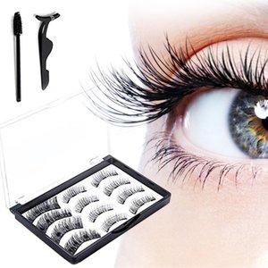3D magnetic false eyelashes, mink eyelash extensions, natural false eyelashes in magnets, reusable tweezers set for false eyelashes