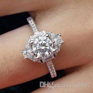 USpecial 2019 hot 925 Sterling Silver migliore vendita di lusso anello di Fidanzamento Per Le Donne Festa di nozze regalo di anniversario di marca monili all'ingrosso