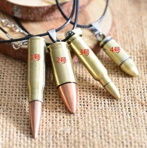 Mode Forme Bullet Déclaration en acier inoxydable Bijoux HIP HOP COOL PENTIVER Pendentif BIV Collier en acier Charme Cadeaux pour hommes NRPOE