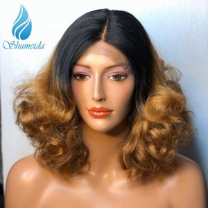13*6 Ombre Color Lace Front Human Hair Wigs 150% Density Brazilian Remy Hair Loose Wave Glueless Lace Wig Baby