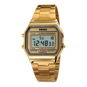 New Casual Men Rectangle Dial Digital Display Alarm Chronograph Business Wrist Watch