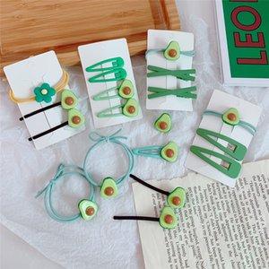 1 card = 1 set Le donne forcelle delle clip di capelli clip verde Bobby perni laterali Strumenti Barrettes Headwear Hairgrip di capelli di modo Hairclip copricapo gioielli