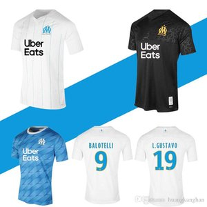 Men's 19 20 football training suit Marseille Olympic Marseille football shirt PAYET 2019 2020 BALOTELLI THAUVIN GUSTAVO OM football shirt