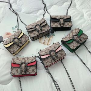 5 stücke Kinder Geldbörsen Mädchen Mini Prinzessin Pruses Fashion Classic Pattern Design Kinder Kette Cross-body Taschen Candly Bag
