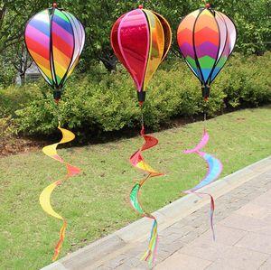 منطاد الهواء الساخن كم الريح الديكور خارج ساحة حديقة الحزب الحدث الديكور DIY اللون الرياح المغازل SN4439