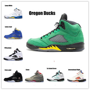 NakeskinJordan # Jumpman 5 Ali 75 Paris Camo Premium Shoes campo Heiress metalli Mens Retro più popolari basketball shoes Sneakers 5s