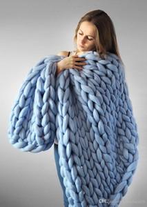 1PC ganchillo cama / sofá de la manta en camas hogar cálido grueso Hilo Manta de invierno para adultos Mantas Europea Textiles para el hogar