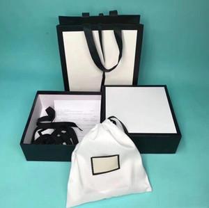 Marca Cinturón Pareja perfecta calidad original top box bolsa de polvo bolsa de papel portátil caja de regalo bufanda de Navidad de accesorios al por mayor Caja de empaquetado