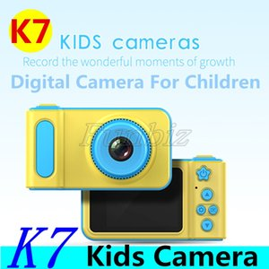 Camera Multi-Language K7 bambini Fotocamera Mini Digital Cute cartoon bambini Kids Toy dei bambini del regalo di compleanno con Package