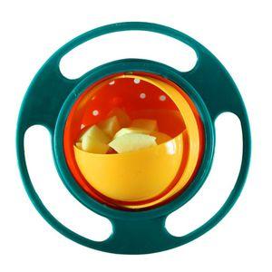 Child Universal Gyro Bowl Children Rotary Balance Bowl Baby Feeding Dish 360 Rotate Spill-Proof Bowl Kids Anti Messing Bowls