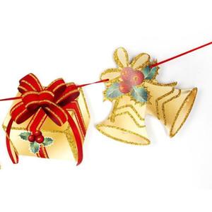 Banderas de Navidad Decoración de la bandera de la bandera de Año Nuevo partido de la decoración de Santa muñeco de nieve paracaídas Guirnaldas Decoraciones de Navidad para Home Y18102609