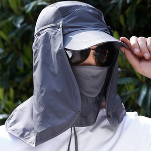 Anti-uv Face Shield Hat Sun Hat Outdoor Sun Cap Men Fishing Caps Summer Fisherman Baseball Cap Male Face Shield Hats Protection