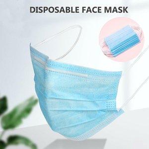 DHL listo para enviar! Máscaras desechables 100X Cara 3Ply Higiene Máscara contra polvo con elástico Lazo boca del polvo de máscara de protección