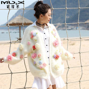 20190921 longueur moyenne en vrac cardigan veste chandail de fleurs en automne et en hiver