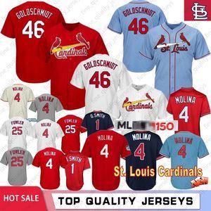 46 Paul Goldschmidt número 150 jerseys del béisbol 1 4 Yadier Molina 25 Dexter Fowler jerseys cosido jerseys 2020 de la nueva M-XXXL