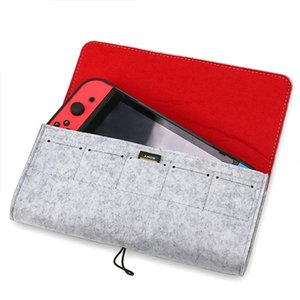 10pcs Game Console Protective Case Fashionable Felt Storage Bag Shock Proof Carrying Bag for Nintend Switch Console cover