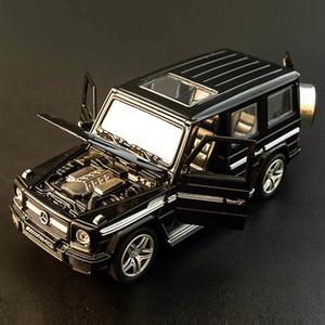 Прицепные Горячий сплав Diecast Model Car G65 SUV 1:32 Дети Металл Игрушки Колеса Спорт автомобилей Назад проблесковый Детский день рождения рождественские подарки T200110