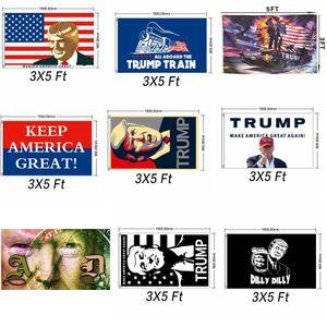 Trump 2020 Flag Donald Trump Tank-Flags Personality Amercia Flags Decortive Banner Flag Wahl Banner Festliche Party Supplies GGA2321