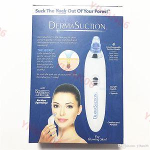 DermaSuction Remover Facial Pore Cleaner Pore elétrica Vacuum Extração remoção da pele recarregável Peeling máquina sagacidade dispositivo de limpeza Pore