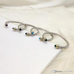 designer di gioielli di lusso Braccialetti Delle Donne di lusso americano ed europeo su misura di protezione dell'ambiente di rame placcato oro genuino gemma brac