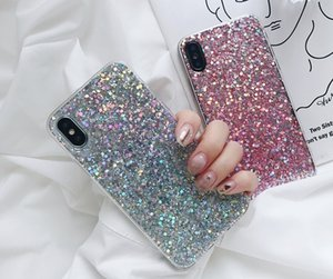 Net red with love sequins apple X XS MAX XR mobile phone shell drops iphone8plus full wrap edge soft shell 7 plus anti-fall protective cover