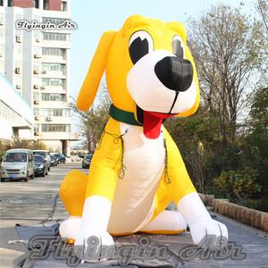 Индивидуальная Симпатичной Надувной собака скульптуры ой Высоты мультфильма животные Blow Up щенок Модель шар для наружной рекламы Показать