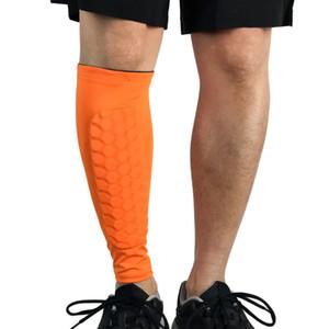 1pcs anti-choque de la pierna del becerro de la manga Gimnasio Fútbol Shin Protector de fútbol de nido de abeja de compresión de ciclo de reproducción