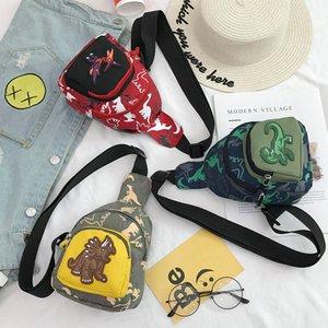 Designer crianças Peito Bolsas Rapazes Meninas Moda Dinosaur Messenger Bags Crianças Luxo camuflagem dos desenhos animados Bolsas Childrens Unisex Bandbags