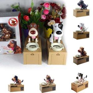 Bonito Choken Greedy Dog Modelo Mealheiro Dinheiro Salvar Pot Coin Criativo Armazenamento filhote de cachorro dos desenhos animados com fome RRA2637 Favor Box cão robótico Partido Dinheiro