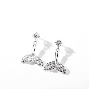 Super Fairy mermaid ear Clip no pierced Female Earrings 2020 New tide earrings Sterling silver