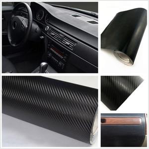 Car Automotive Interior Etiqueta Etiqueta 3D fibra de carbono grãos para telhados de automóveis tronco tampas pára-choques maçanetas Adesivos