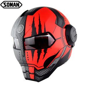 iron man capacete de moto flip capacete personalizado Up Verspa Ironman Crânio Capacete Robot Casco DOT cascos de aprovação