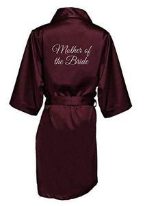 Женские сонные брюки Принт Мать невесты Сатин Свадебные халаты
