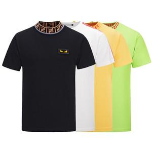 19ss marca de impresión g3g camiseta de los hombres de moda italiana camisa de polo camisa de los hombres high street impresión de los hombres camiseta del diseñador