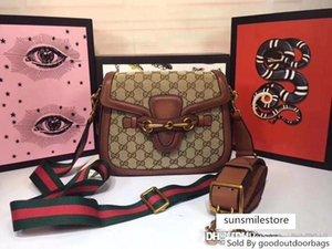 Firma mejor NO.2GU Señora Web Tan monogramas raya Correa RCPT Logos GG hombro del patrón del bolso de cuero marrón tamaño Italia :: 25 * 16 * 7cm