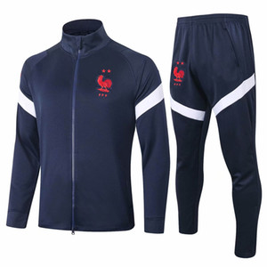 2020 Frence veste de l'équipe nationale Mbappé Pogba Maillot de foot Survêtement kits de football Griezmann Survêtement Giroud vêtent manches longues