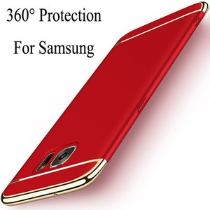 Electroplated 3 in 1 back cover Case For Samsung A9 A8 A7 J6 J4 J8 S9 plus 2018 j2 CORE NOTE 9 8