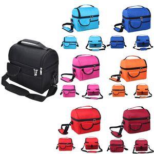 النساء الرجال برودة معزول نزهة الغداء حقيبة السفر المحمولة مربع للأغذية الحراري